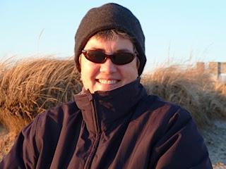 Me, bundled against the wind