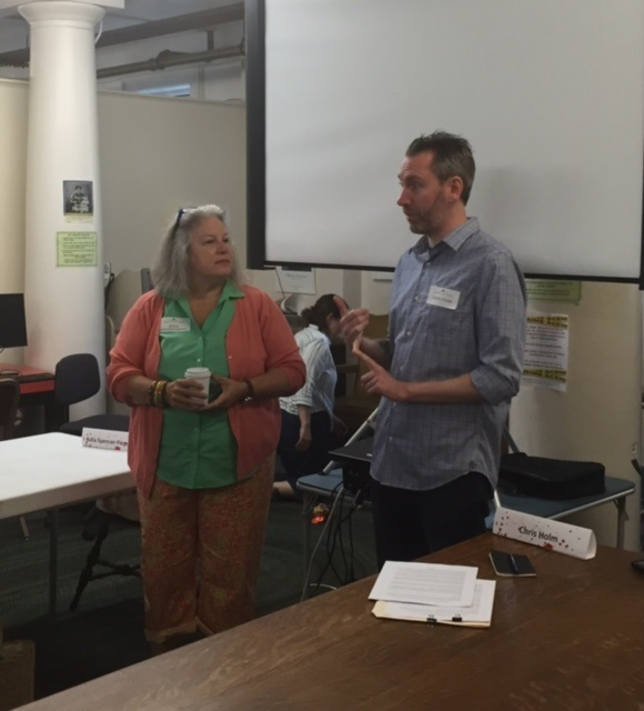 Two brilliant writers, Julia Spencer-Fleming and Chris Holm, teaching a course on writing suspense