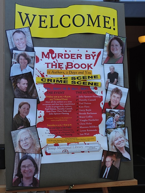 The author lineup at Murder By The Book in Bar Harbor