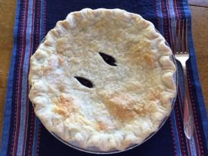 Maine wild blueberry pie. So sweet it doesn't need ice cream