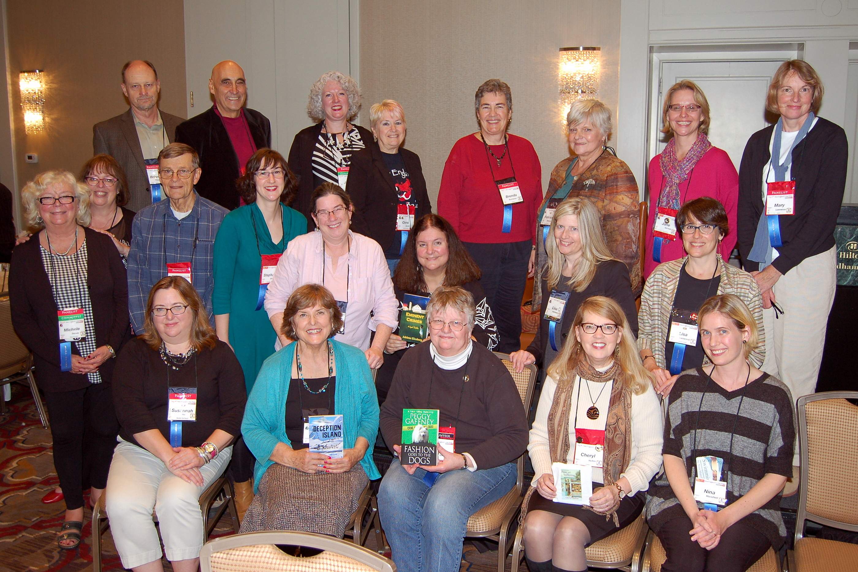 The twenty-two (!) debut authors who attended the 2015 New England Crime Bake conference