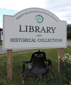The Library on Swan's Island also houses the community's historical collection