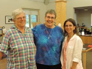 Sandra Haggard, me and librarian Candis Joyce