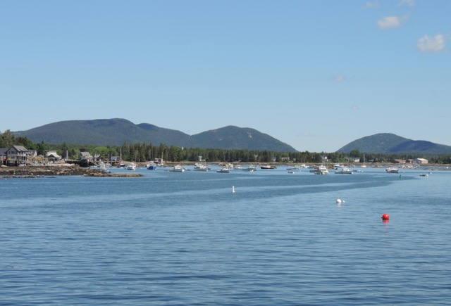 View from the ferry Friday morning, coming from Swan's Island back to Bass Harbor