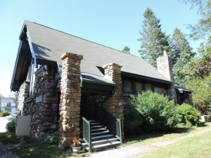 Winter Harbor Public Library, in the historic Channing Chapel
