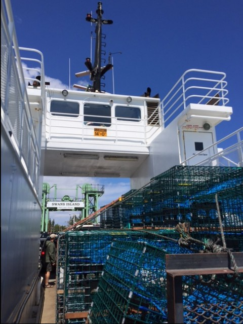 The Swan's Island ferry