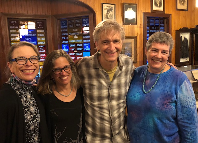 From left, Elizabeth Peavey, Nancy Gibson-Nash, Scott Nash and me at Fifth Maine